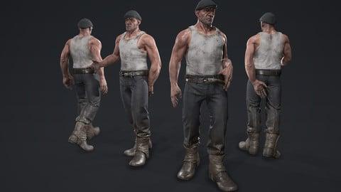 PBR Game Ready Character - Dishodude (Dishonored FanArt)
