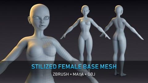 Stylized Female Base Mesh