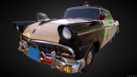 Vintage Police Car - PBR