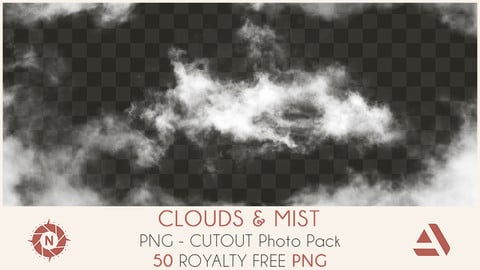 PNG Cutout Photo Pack: Clouds and Mist