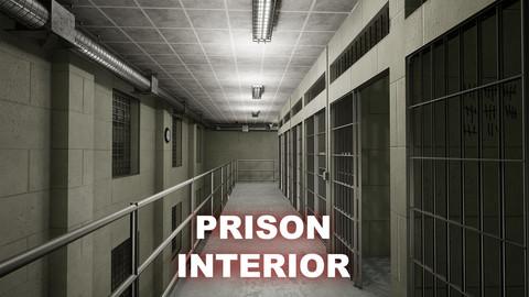 UE4-Modular Prison Interior