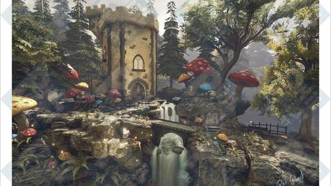 Mushroom Tower PNG Format