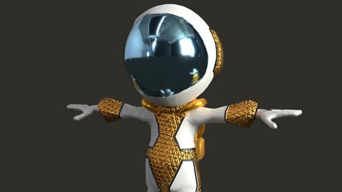 4K Astronaut Low Poly game Character model