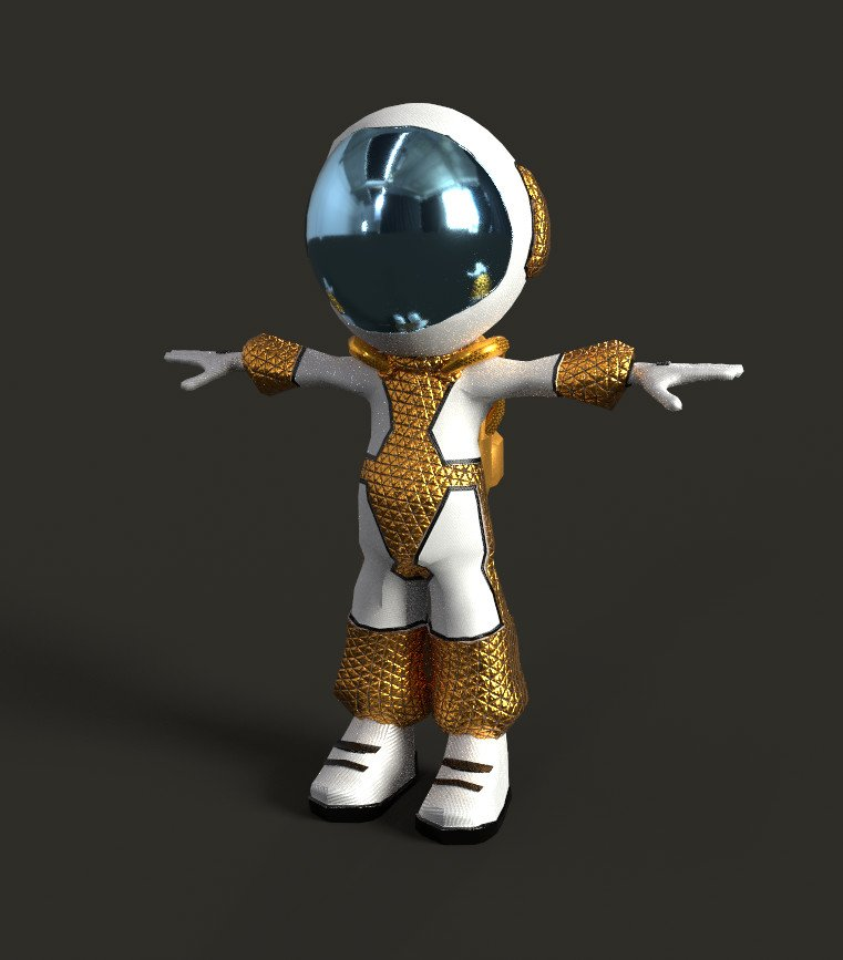 Dharmik Bhatt - 4K Astronaut Low Poly game Character model