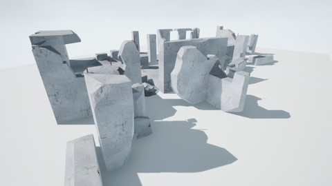Destroyed Buildings Low - Poly PBR