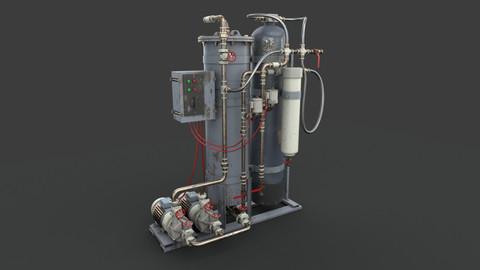 Industrial oil water separator