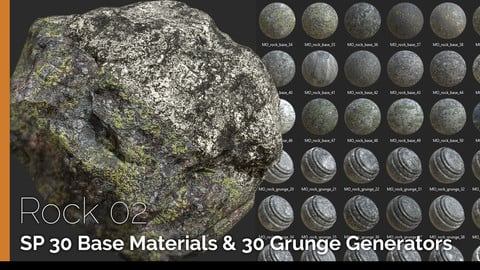 SP Base Materials & Grunge Generators: Rock 02