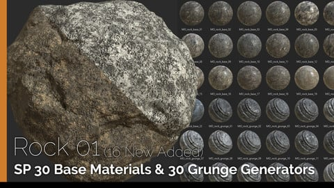 SP Base Materials & Grunge Generators: Rock 01