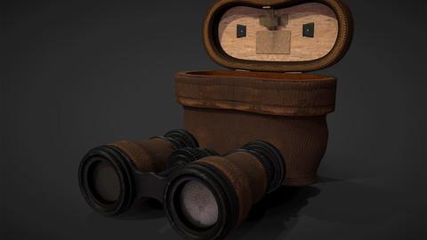 Antique Binoculars with Case - PBR