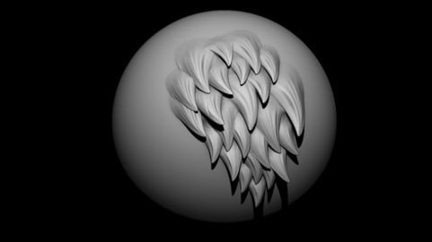 Fur Multi VDM brush for ZBrush
