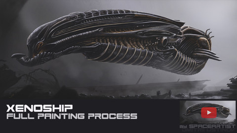 Xenoship [full painting process in Photoshop]