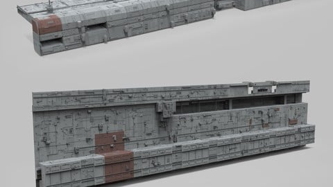Sci-Fi architecture Elements collection 8