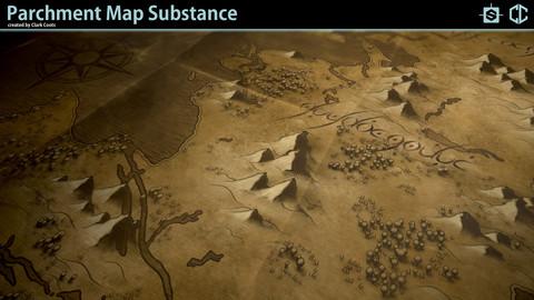 Parchment Map Substance