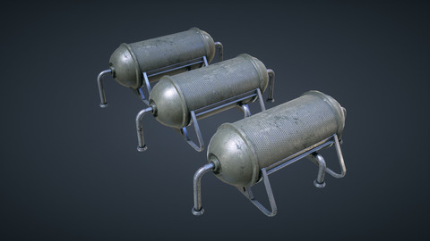 Mars KitBash - Fuel Containers