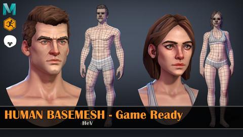 Human Basemeshes - Game Ready