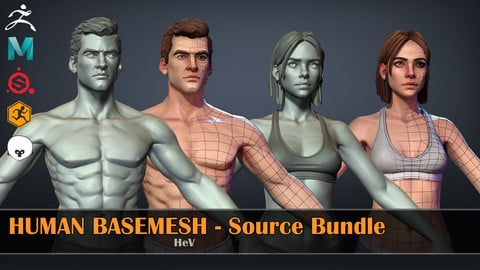 Human Basemeshes - Source Bundle