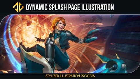 Dynamic Splash Page Illustration