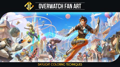 Overwatch Fan Art - Daylight Coloring Techniques