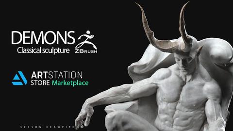 DEMONS - Classical sculpture