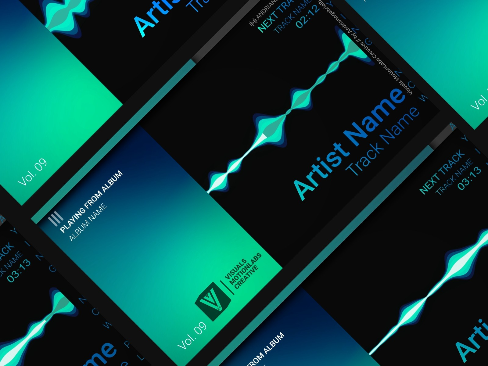 Audio Spectrum / Music Visualizer Concept S9 (Harmonic Colors) by Gabriel  Andriano B  (Andrianogabrielb)