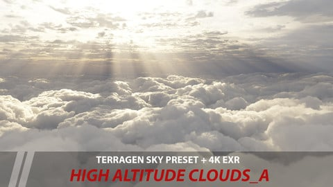 Terragen 4 sky preset -- High Altitude clouds_A