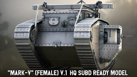 "HQ SUBD ready model of ""MARK-V"" (female) V.2"