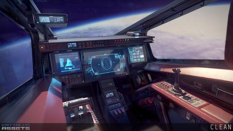 Sci Fi Fighter Cockpit 5