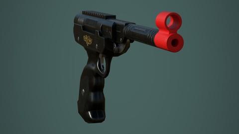 Super Condor gun - Low poly