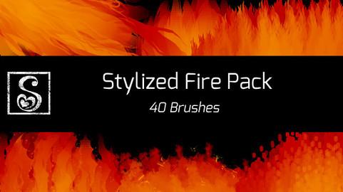 Shrineheart's Stylized Fire Pack - 40 Brushes