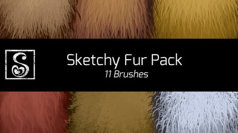Shrineheart's Sketch Fur Pack - 11 Brushes