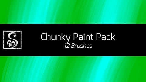 Shrineheart's Chunky Paint Pack - 12 Brushes