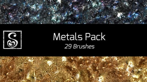 Shrineheart's Metals Pack - 29 Brushes