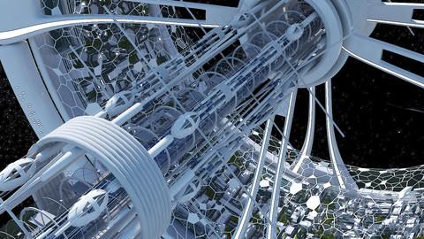 Futuristic Space Colony B