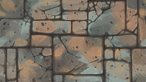 【TEXTURE】-Hand Painted - Low Poly - Floor_007