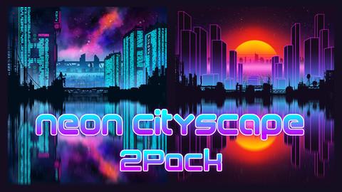 Neon Cityscape 2Pack