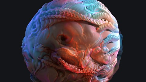 Organic Tile Material creation with Zbrush