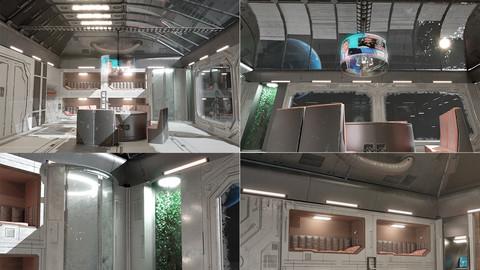 sci fi room 3d asset