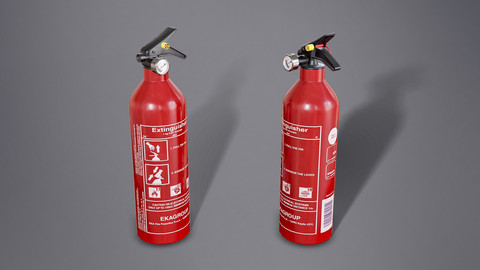 Fire Extinguisher - PBR Game Ready