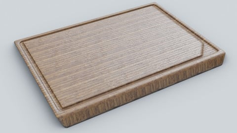 ikea cutting board  4K Textures  UV Mapping  Polygonal Topology