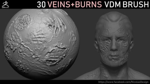 Zbrush - Veins and Burns VDM Brush