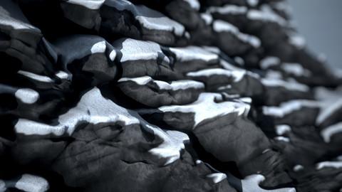 Snowy Rock Material | Substance Designer