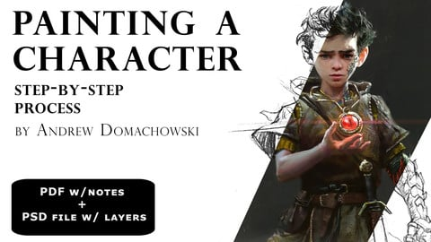 Painting a Character - Step by Step Process