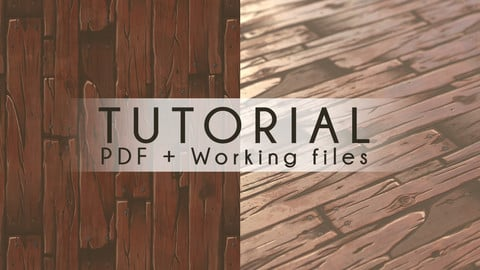 Tutorial Stylized Texture and Material Creation - Wood planks