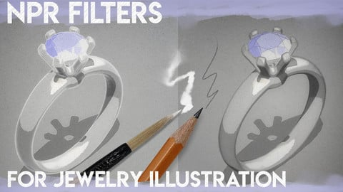 NPR Filters for Jewelry Illustration