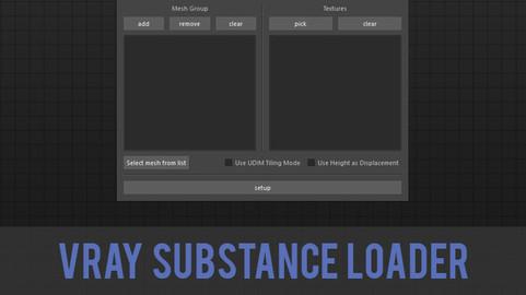 Maya Vray Substance Loader