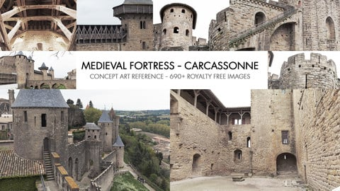 MEDIEVAL FORTRESS - CARCASSONNE - PHOTO REFERENCE