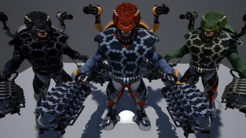 Sci Fi Beast (UE4 Assets)