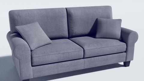 sofa - buxton 73 rolled arm