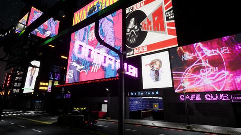 Cyberpunk City PACK and Street assets