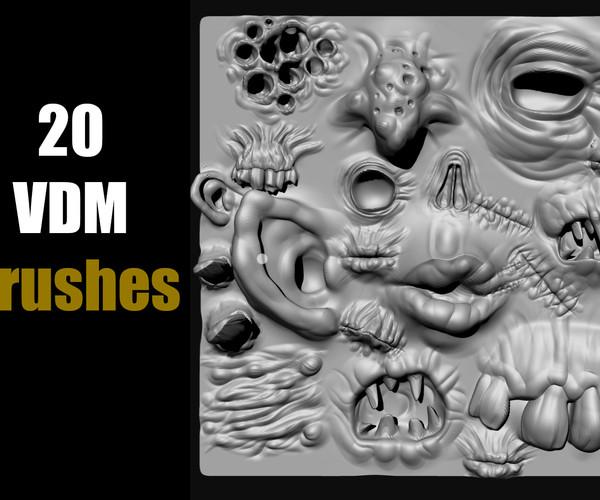 Horror _ Zombie Face Parts VDM Brushes